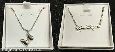 Disney Minnie Mouse Necklace Gift Set Box Bow Silver Plated Jewellery Kids Cute