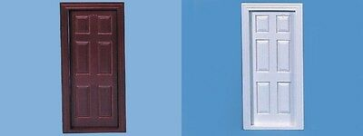 Internal Doors - White or Mahogany Brown, Dolls House Miniatures. 1.12 Scale