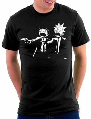 Pulp Rick and Morty Fiction T-shirt