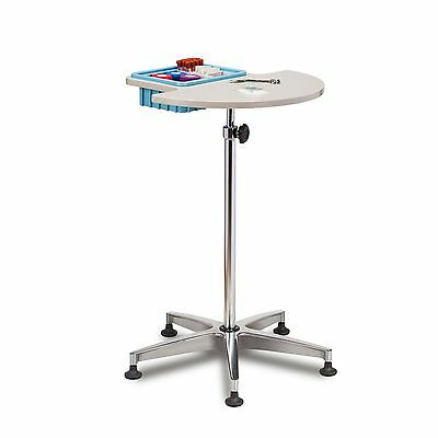 Phlebotomy Blood Draw Stand with work surface and supply bin 1 ea