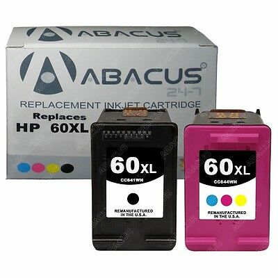 Combo 2-PACK (Black / Color) Remanufactured Ink Cartridge Set for HP 60XL