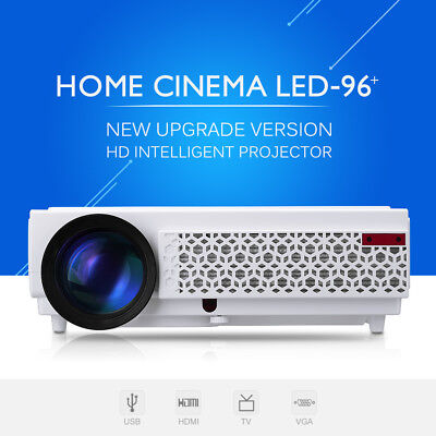 3D LED 96+ 10000:1 5000 Lúmenes Proyector HDMI HD 1920*1080P Projector TV VGA AV