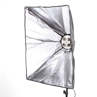 Photo Studio Kit 50*70cm Lighting Softbox+4XE27 Ceramic Socket Lamp Head Holder