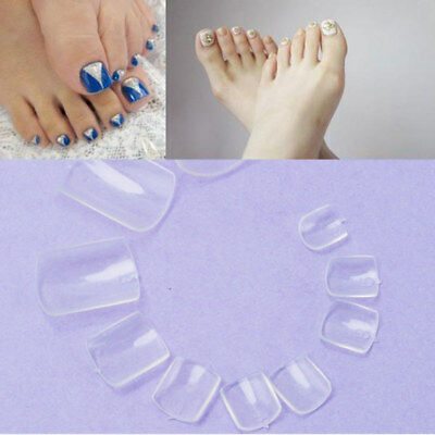 500 Pcs Plastic Clear False Fake Artificial Toe Nails Tips For Nail Art Decor