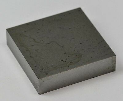 """Solid steel block anvil doming  3""""x3""""x3/4"""" jewellery craft tool chasing dapping"""