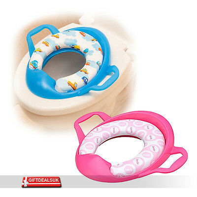Baby Toddler Kid Safety Soft Padded Toilet Trainer Child Potty Seat With Handles