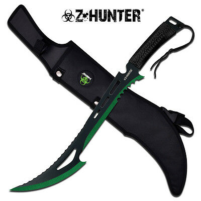 """24"""" FULL TANG Tactical Survival Fixed Blade ZOMBIE MACHETE w/ Sheath NEW"""