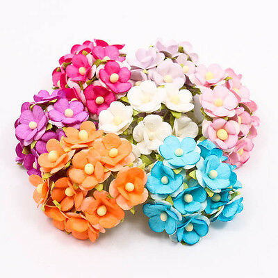 10PCS x Poysian Mulberry Paper Flower Craft Handmade Wedding 18mm Scrapbook