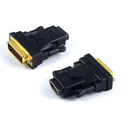 DVI-D Dual Link 24+1 Pin DVI Male to HDMI Female Converter Adapter Connector