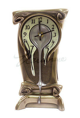 "Art Nouveau Melting Clock Sculpture 11"" Tall - WE SHIP WORLDWIDE"
