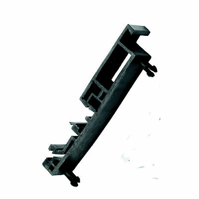 Externally Fitted Din Rail Mounting Brackets For Switch Station Enclosures Black