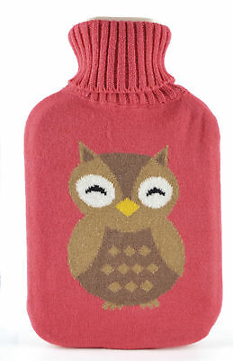 Ladies Cool Bear Fleece Hot Water Bottle and Cover
