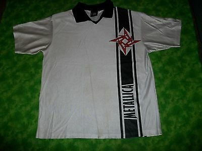 VTG 1990s Metallica Load Concert Tour Polo Jersey Shirt Size L Large
