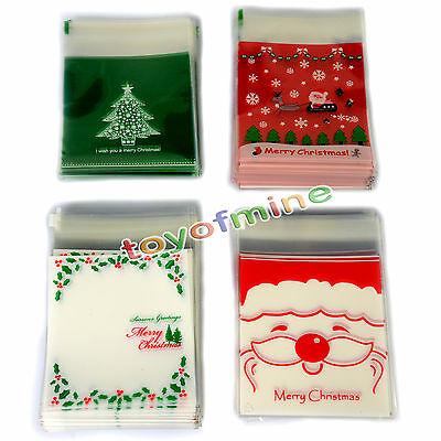 10/100PCS Lovely Candy biscuits plastic bag wedding gift Christmas decoration