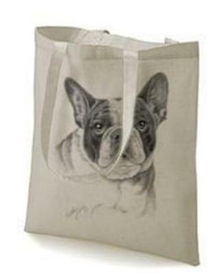 Boston Terrier Design No 14320 Tote Cotton Shopping bag