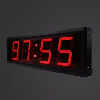 LED Crossfit Timer Wall Clock w/Remote Countdown/up Training Garage 1.8""