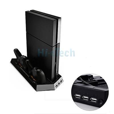 USB Dual Cooling Fan + Dual Controller USB Charging Dock Base + USB HUB for PS4