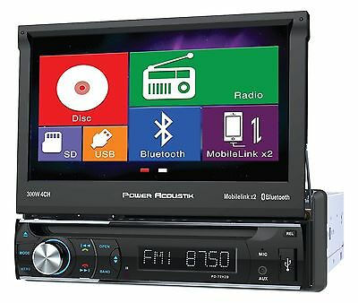 "Power Acoustik PD-72H2B 1 DIN CD/DVD Player 7"" Bluetooth Android MobileLink 8.2"