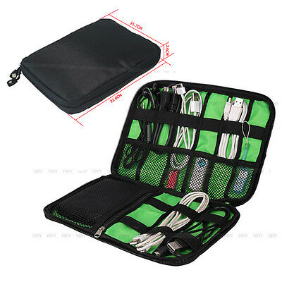 Portable Carry Organizer Storage Bag Case For Cables USB Drive Chargers Headset