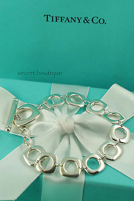 "AUTHENTIC Tiffany & Co. Square Cushion Bracelet 7.5"" (#833A)"