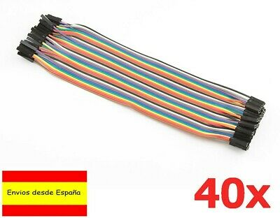 40x Cables 20cm Hembra Hembra jumpers dupont 2,54 arduino protoboard cable