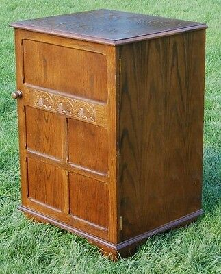 Smashing Vintage Oak Cabinet Ideal Project Full of Old Charm With Lift Up Lid