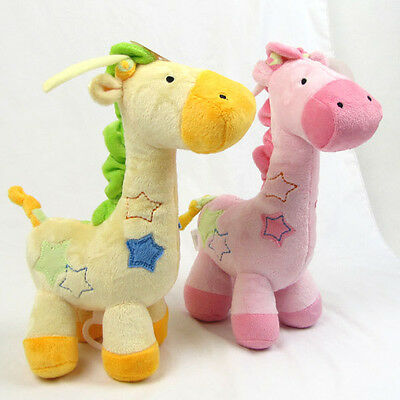 Giraffe Lullaby Melody comfort soothing plush musical box baby toy bed bell