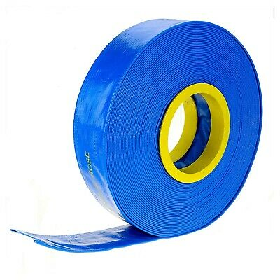 """100m x 2"""" 50mm ID Outlet Layflat Hose Lay Flat Water Hose for Transfer Pump Etc"""