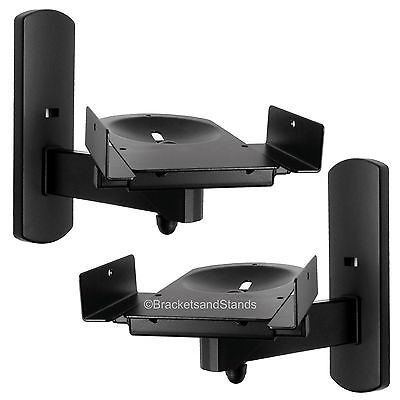Home Theater Side Clamping Bookshelf Monitor Speaker Wall Mounts Brackets - Pair