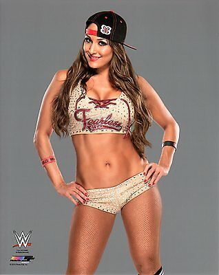 "NIKKI BELLA TWINS WWE PHOTO 8x10"" OFFICIAL WRESTLING PROMO"