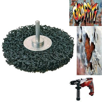 Graffiti Rust Paint Removal Disc For Electric Or Battery Drill  Brick Metal Wood