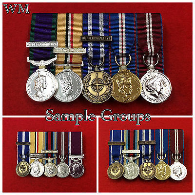 5 x Supplied & Court Mounted Miniature Medal Group Choose Your Miniature Medals