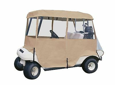 2 Person Golf Car Heavy Duty Enclosure Cover Deluxe 4 Sided with Carrying Case