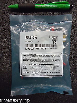 SMC KQL07-35S KQ, Inch Size, One-touch Fitting. Brand New! 10 Pieces!