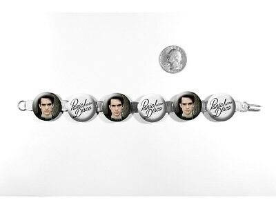 """Panic! At The Disco Brendon Urie Rock Band 8"""" Bracelet w/Fold-Over Clasp"""
