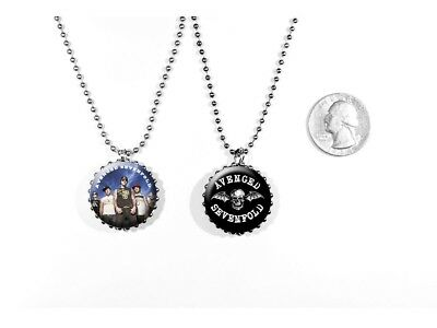 Avenged Sevenfold A7X Heavy Metal M. Shadows 2 Sided Necklace