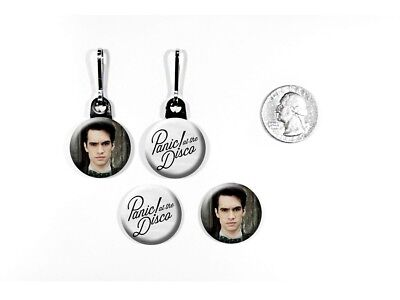 Panic! At The Disco Brendon Urie Rock Band Zipper Pulls w/ Buttons