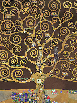 QUADRO PANNELLO IN LEGNO MDF CON SWAROVSKI ORIGINALI - Gustav Klimt Tree of life
