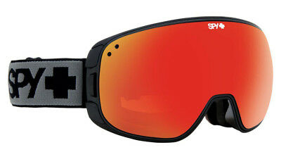 SPY PLATOON GOGGLES MATTE BLACK BRONZ w/ RED SPECTRA + BLUE CONTACT LENS