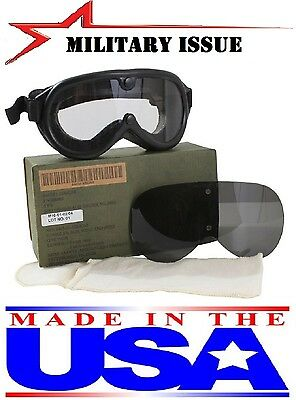 Goggles NEW Military Issue Ballistic Shaterproof Lenses Sun,Wind & Dust Goggles
