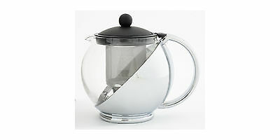 NEW Avanti Black/Chrome Multi Function Teapot 1.2L