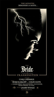The Bride of Frankenstein Silk Screen Poster Print by Olly Moss  Mondo  Mint
