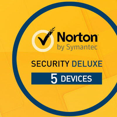 Norton Security Deluxe 2017 5 Devices 5 PC 12 Months License PC MAC 5 users 2016