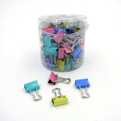 60Pcs Utility Office Home File Paper Metal Binder Clips Ticket Holder TBUS