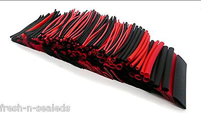 SummitLink  306 Pcs Red Black Assorted Heat Shrink Tube 8 Sizes Tubing Wrap Set