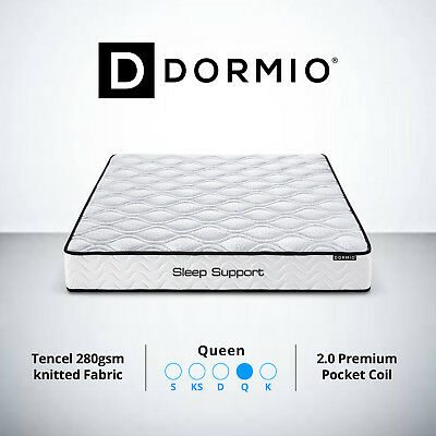 New Queen Size Bed Mattress Multi Pocket Spring 22cm Premium High Density Foam