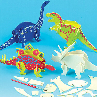 Dinosaur Wood Craft Kits for Children to Make & Decorate(Pack of 5)