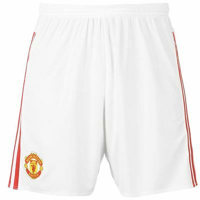 adidas Manchester United Home Shorts 2015 2016 Sports Football Mens Gents