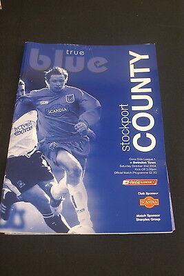 Stockport County v Swindon town of October 2004