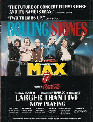 Rolling Stones 1991 Ad- At The Max Canada